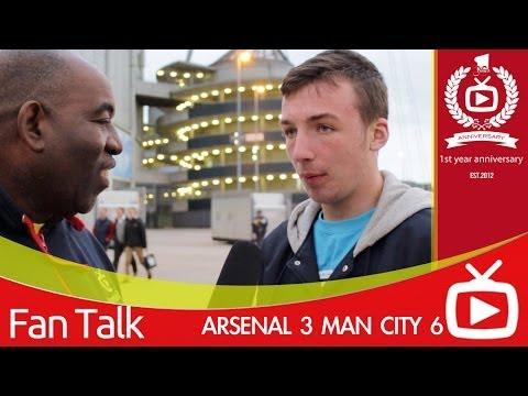 Arsenal FC 3 Man City - Robbie Ends Interview After Man City Fan Mentions Samir Nasri