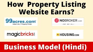 How 99acers, Housing.com,Magic Bricks & No Broker Earns   Business Model    Case Study   Hindi screenshot 5