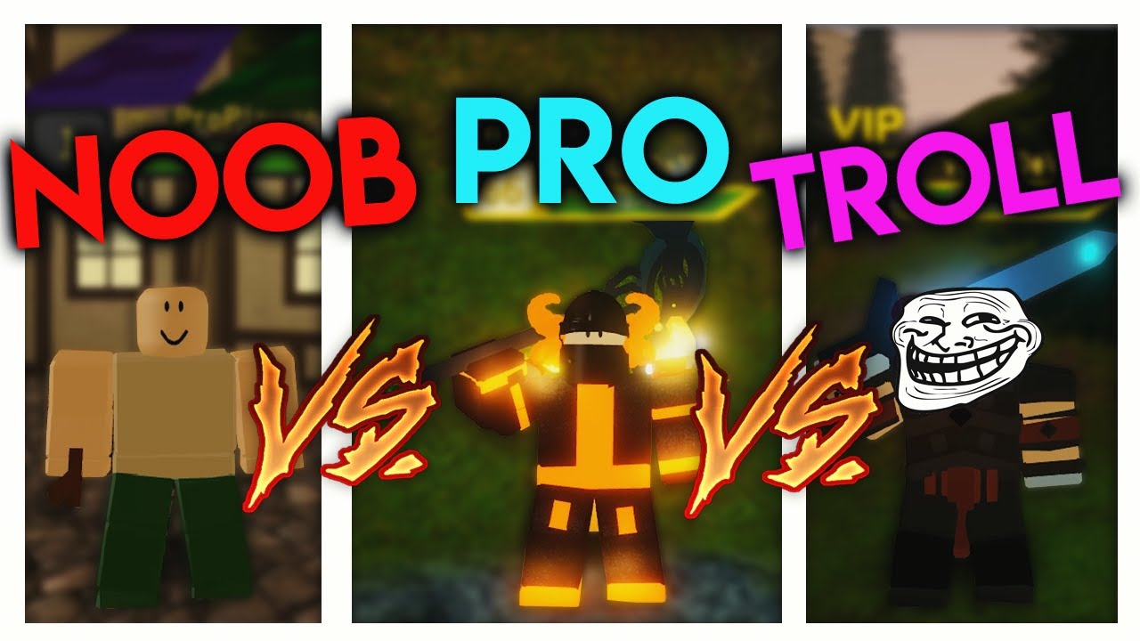Dungeon Quest Roblox Download - Noob Vs Pro Vs Troll Dungeon Quest Roblox