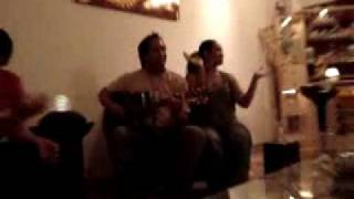 Singing a polynesian welcome song, in dubai..