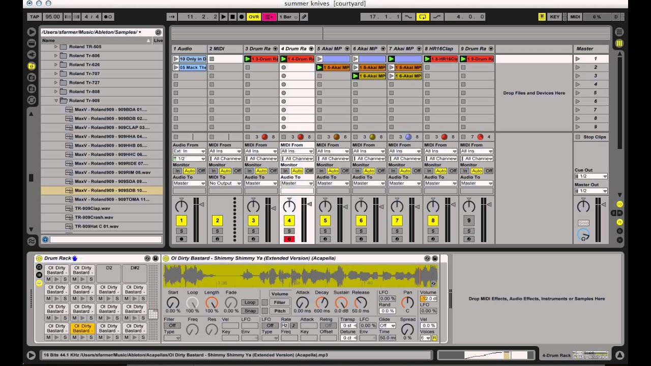 ableton live tutorial using drum rack to maintain sample pitch youtube. Black Bedroom Furniture Sets. Home Design Ideas