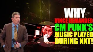 Real Reason Why Vince SECRETLY FORCED CM Punk's Music To Play DURING NXT Show (3 May 2019) REVEALED!