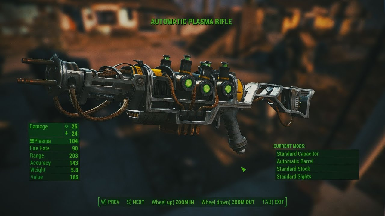 fallout 4 weapons automatic plasma rifle youtube
