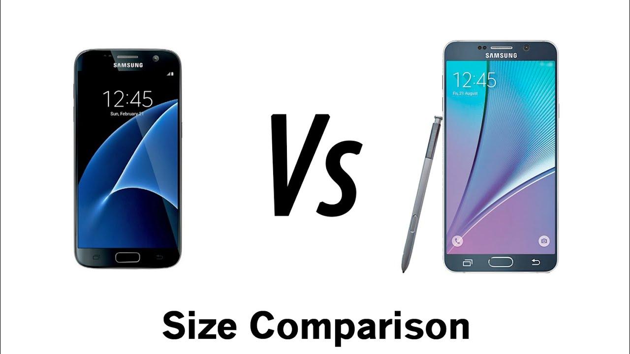 Galaxy S7 vs Note 5 - Size Comparison - YouTube