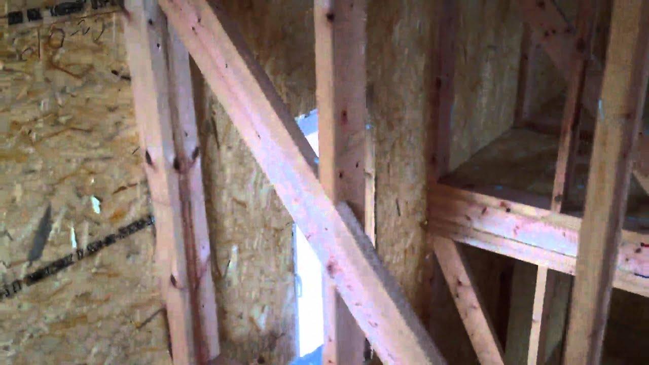 Правильная установка межкомнатных стен в СИП-доме
