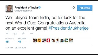 Indian cricket celebrities Tweets after india lose in Semi Final | Australia won by 95 runs