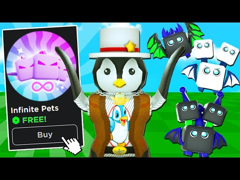HOW I GOT INFINITE PETS GAMEPASS FREE! (Roblox Tapping Mania)