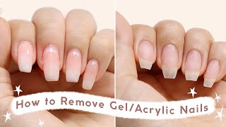 How to Remove Gel /Acrylic Nails At Home Without Breakage