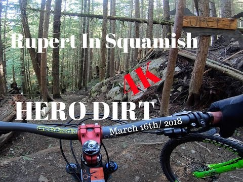 4K Squamish Mountain Biking  RUPERT  NO SNOW  LETS RIDE  testing the WG2 Gimbal with the Hero 6