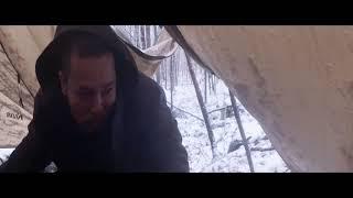 Cắm trại mùa đông 1/ Solo Snow camping in Connecticut 12/02/2019