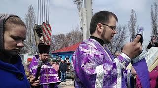 Освящение колокола в Покровском храме, г.Бутурлиновка 14.04.2019.