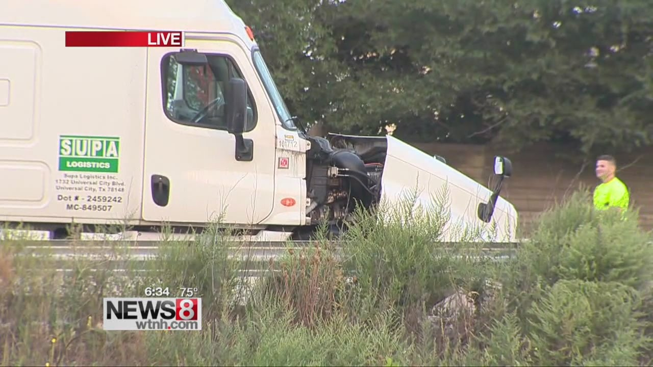 I-91 N closed in New Haven after wrong way driver hits tractor trailer