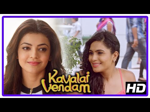 Kavalai Vendam Movie Scenes | Title Credits | Kajal accepts marriage proposal | Bobby Simha