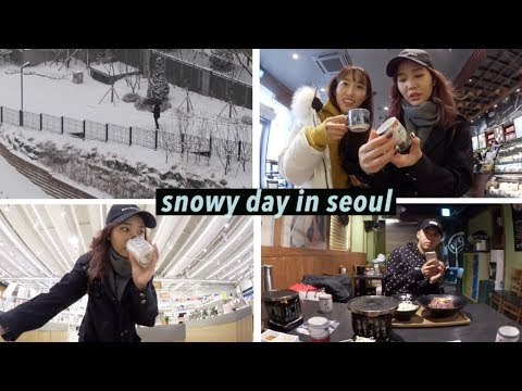 Snowy Day in Seoul + Family Time in Myeongdong | #Vlogmas Day²⁰