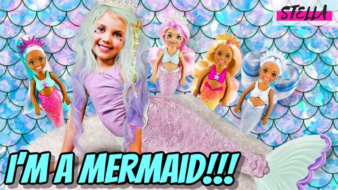 Stella Becomes a MERMAID!!! (Feat Color Reveal Barbie)