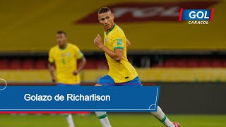 Brasil vs Ecuador: gol de Richarlison para que Brasil se pusiera 1-0