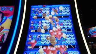 Gambar cover Big Win!! More More Hearts slot machine bonus round at Mohegan Sun Pocono casino