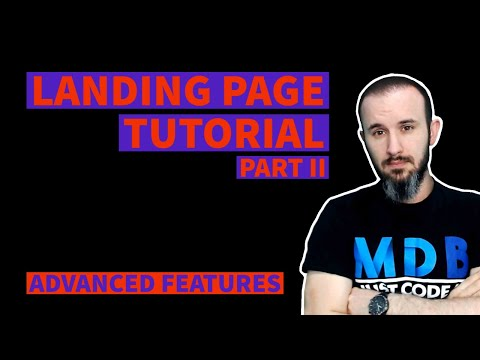 Advanced Landing Page with Bootstrap 5 & Material Design 2.0