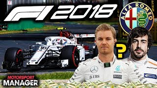 SIGNING A WORLD CHAMPION NEW DRIVER?! - F1 2018 Alfa Romeo Manager Career Part 30
