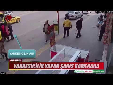 YANKESİCİLİK YAPAN ŞAHIS KAMERADA