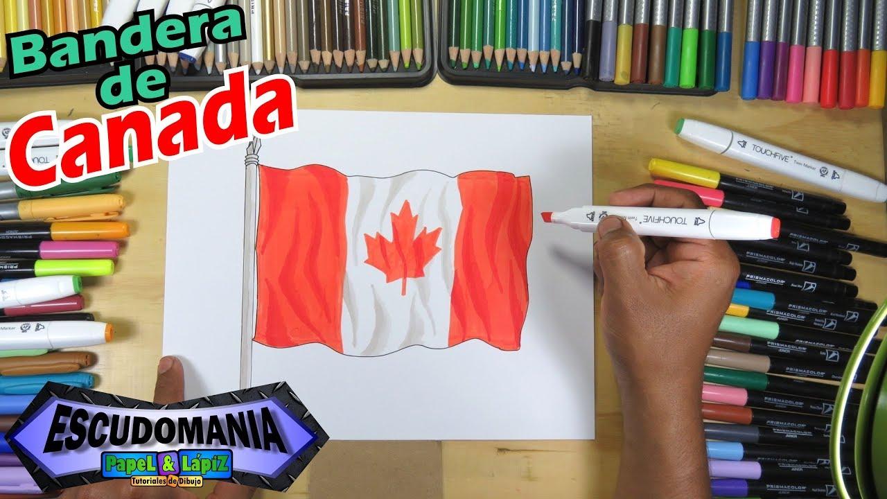 Dibuja La Bandera Nacional De Canadá Draw The Flag Of Canada