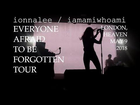 ionnalee  iamamiwhoami  Everyone Afraid To Be Forgotten Tour  London, Heaven  May 09, 2018