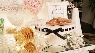 Glam Hot Cocoa Station DIY | Christmas Decorating ideas | Christmas decorations  Make Hot Cocoa