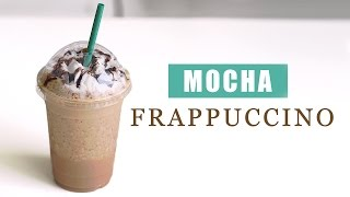 How to Make Starbucks Mocha Frappuccino - Copycat Recipe 스타벅스 모카 프라푸치노 만들기 - 한글자막