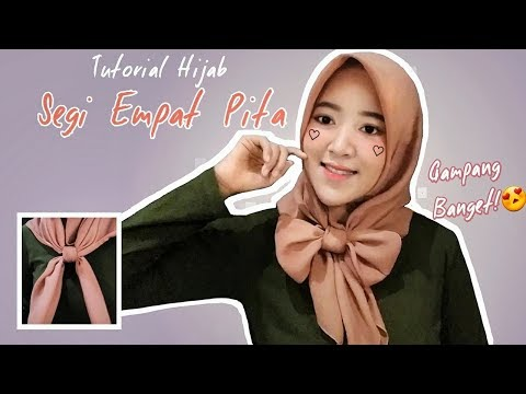DAILY HIJAB TUTORIAL, TIPS & ETC | TUTORIAL JILBAB SEGI EMPAT / SQUARE  | Kiara Leswara.