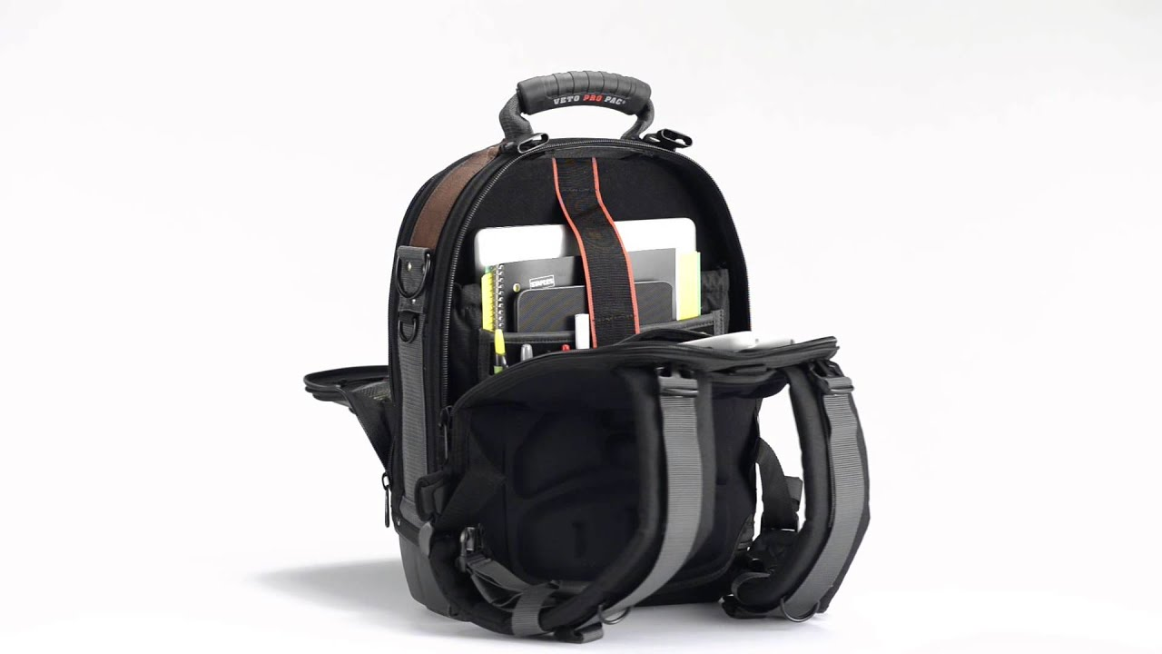 Tech Pac LT Laptop Backpack Tool Bag 360 Degrees - YouTube