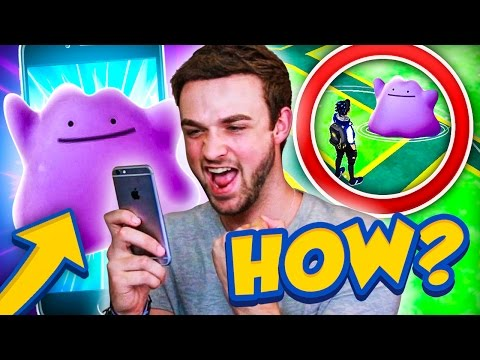 Pokemon GO - HOW TO CATCH DITTO! (DITTO GYM BATTLE + CAPTURE)