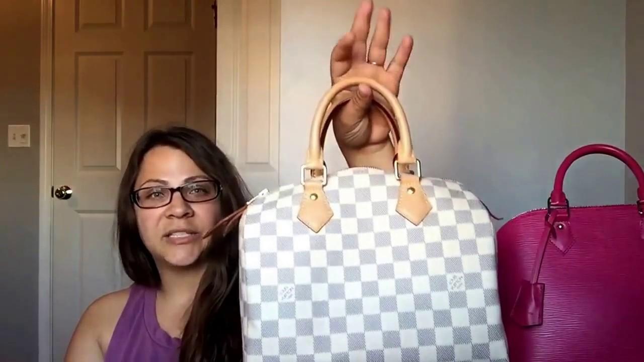 95ff5821b630 Louis Vuitton speedy 25 Damier azur review - YouTube