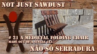 #21 Medieval Folding Chair. Entry For The 2015 Creative 2x4 Contest.