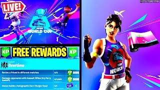 🔴 *NEW* OVERTIME CHALLENGES FREE REWARDS, WORLD CUP UNLOCKS/SKIN GAMEPLAY (FORTNITE LIVE)