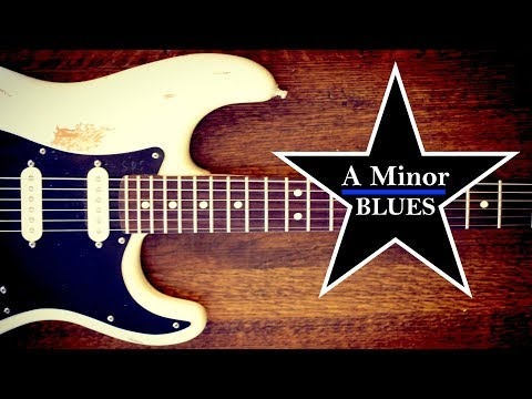 A Minor Blues Guitar Backing Jam Track - Quist