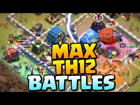 MAX TH12 BATTLES - Clash of Clans Town Hall 12 Update - Queen Charge Miners, BoWitch and Witches!