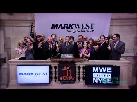 MarkWest Energy Partners Celebrates Fifth Anniversary of Listing rings the NYSE Closing Bell