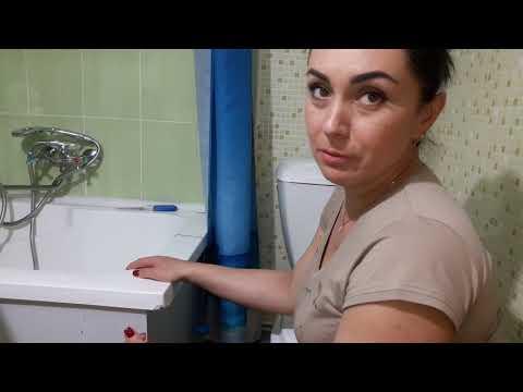 Ремонт акриловой ванны руками красотки-брюнетки