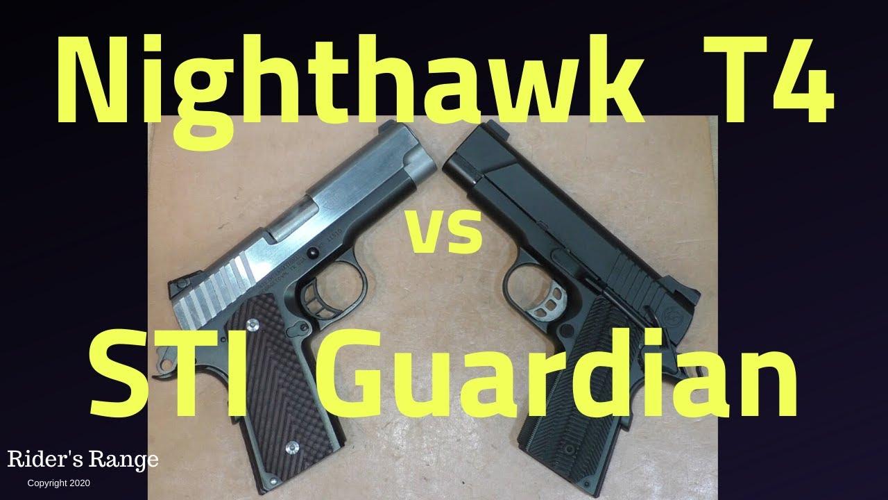 Nighthawk T4 vs STI Guardian 9mm - 1911 Series Part 19