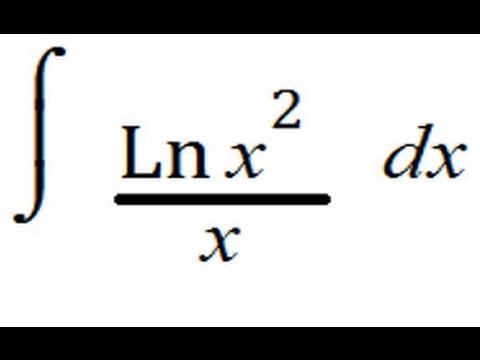 Integral  [ln (x^2)] / x   dx