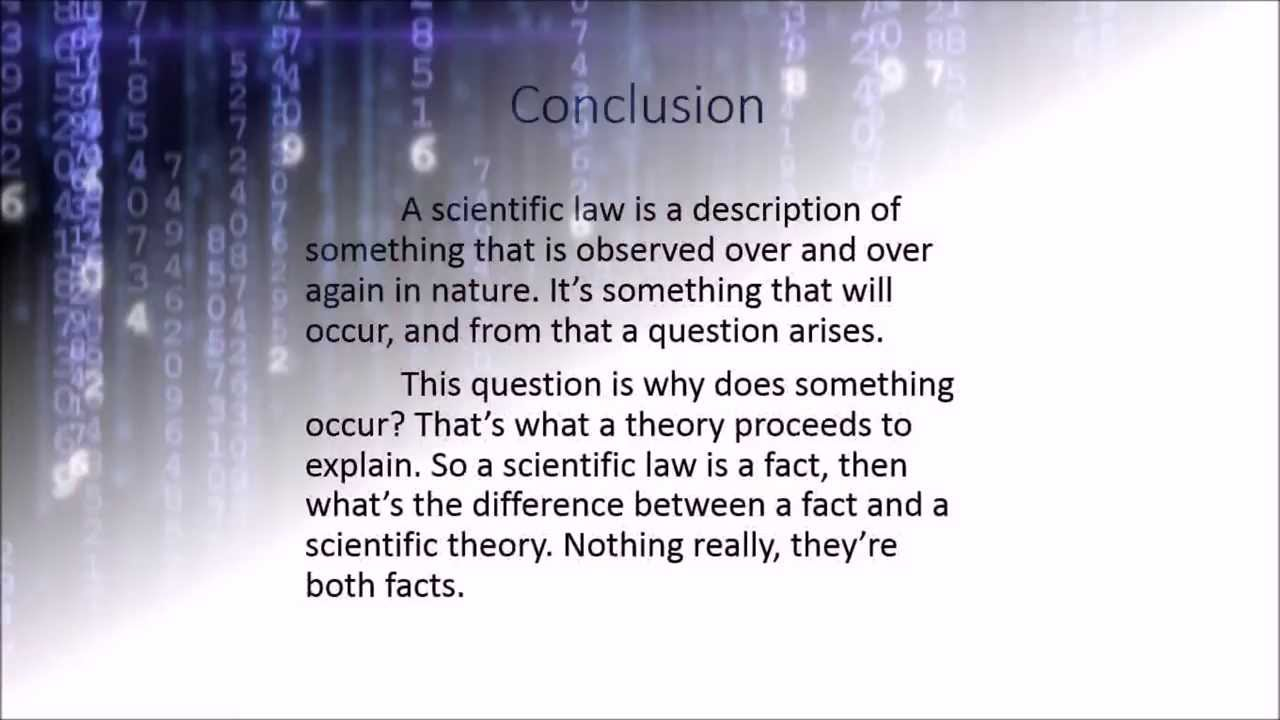 Basics Of Science Scientific Law Vs Scientific Theory Video 2