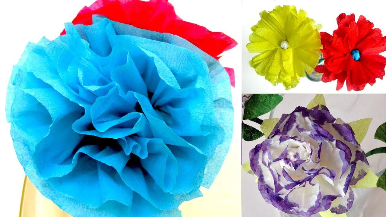 6 Flores De Papel 6 Ideas Faciles Manualidades Para Todos Youtube