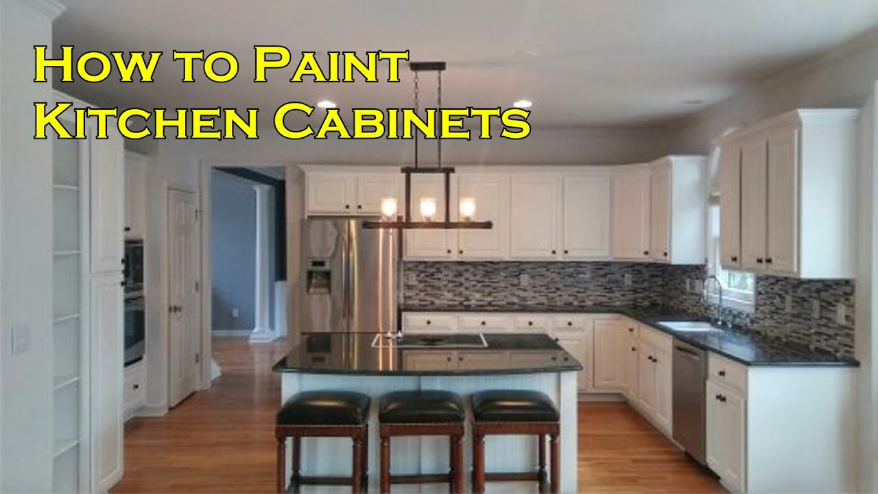 How to Paint Kitchen Cabinets with a Sprayer not a Brush ...
