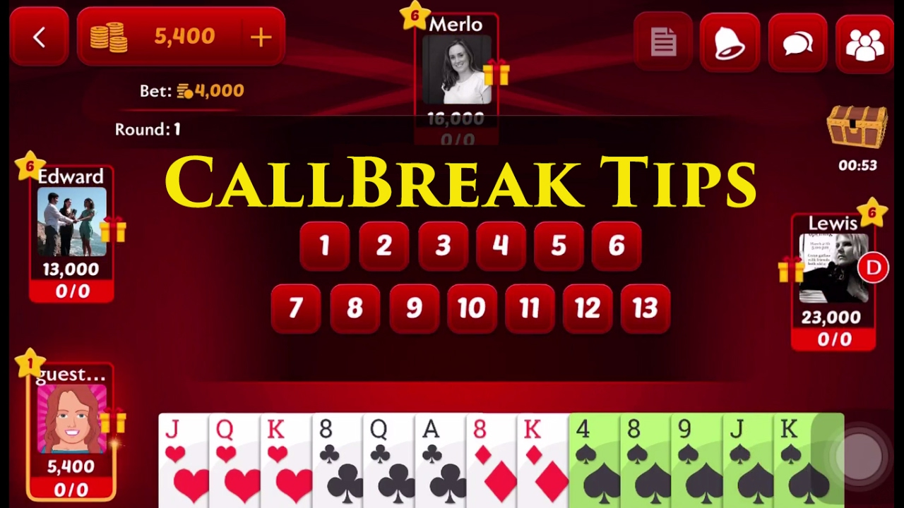 Call break multiplayer card games for iPhone & iPad 2018