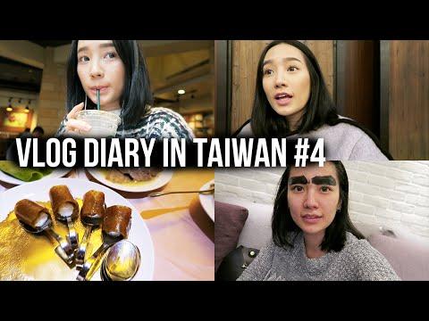 Vlog Diary in Taiwan #4   Eyebrow tattoo 飄眉分享!