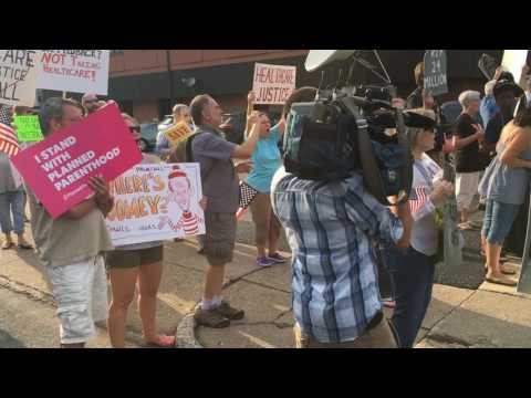 Protesters picket Sen. Pat Toomey
