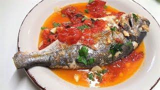 "Вкуснющая Рыба Дорадо ""аква пацца"" как готовят в Италии."
