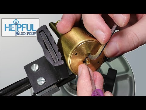 [360] Beautiful Brass American Round Body Padlock | SET U.S. M182C | Picked!