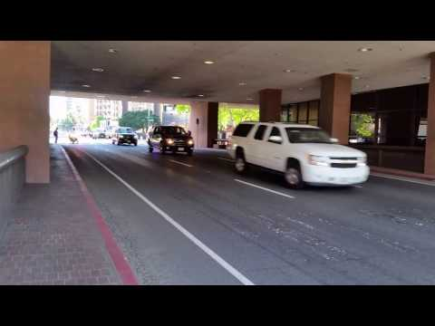 Jeff Sessions Motorcade in downtown San Diego (White SUV)