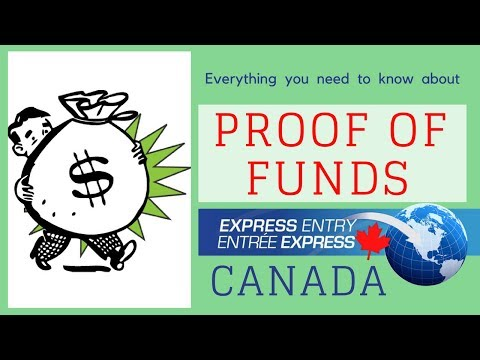 💰 Proof of funds for Express Entry 2018 ( Canada PR )